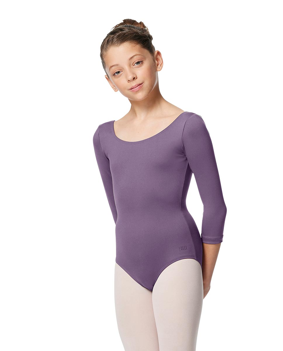 Girls V Back Long Sleeve Tactel Dance Leotard Veronika LAV