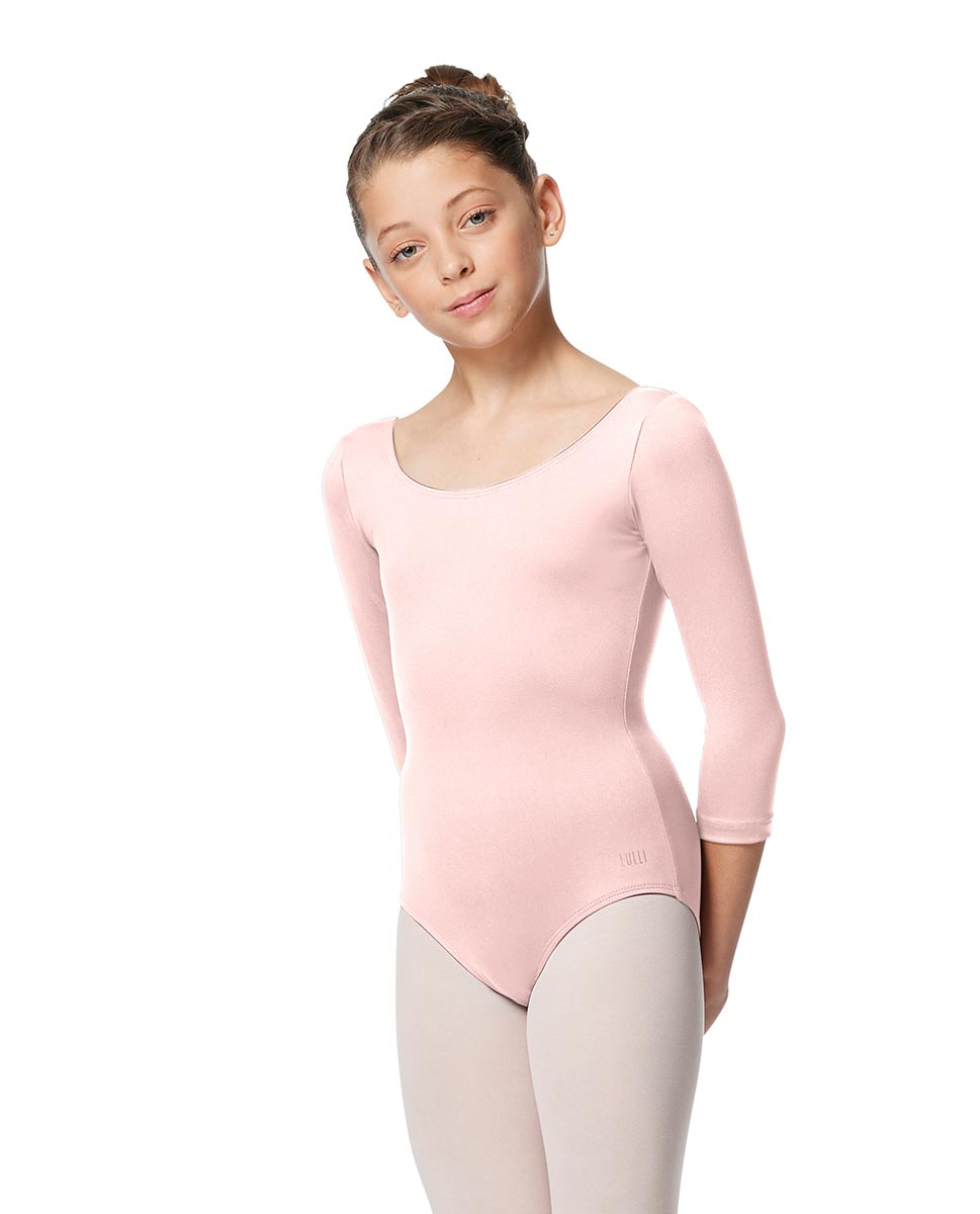 Girls V Back Long Sleeve Tactel Dance Leotard Veronika LPNK