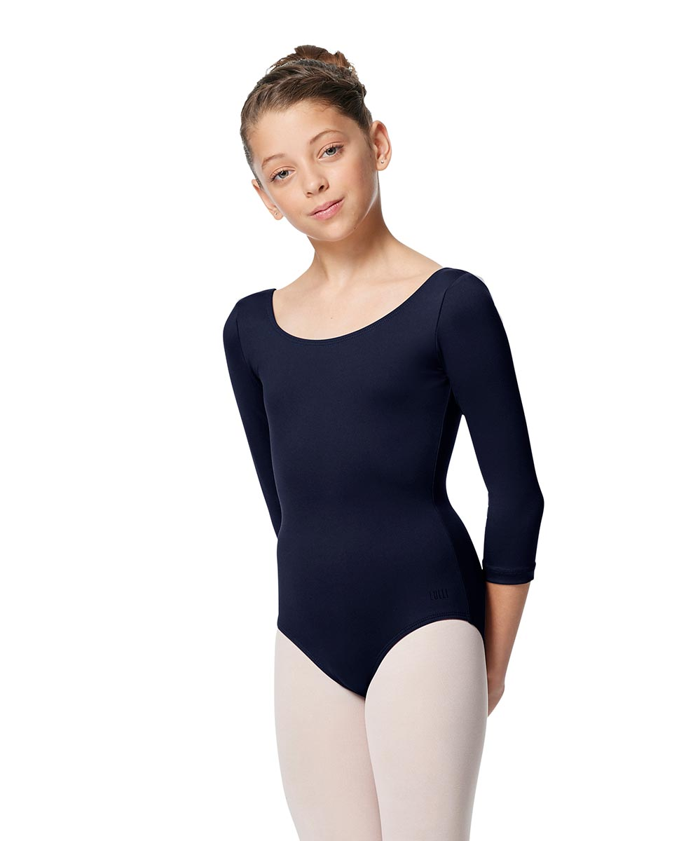 Girls V Back Long Sleeve Tactel Dance Leotard Veronika NAY