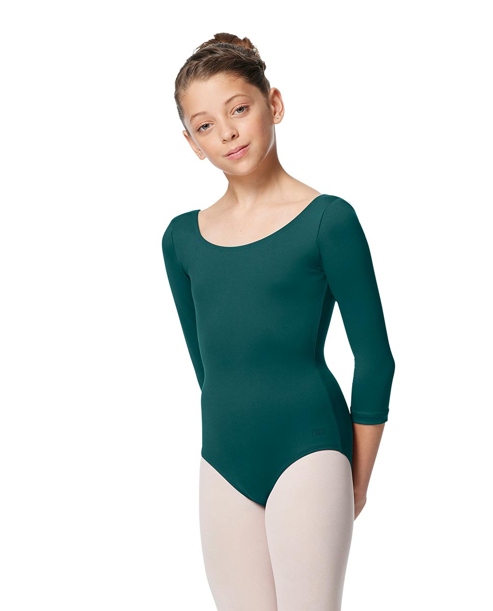 Girls V Back Long Sleeve Tactel Dance Leotard Veronika TEA
