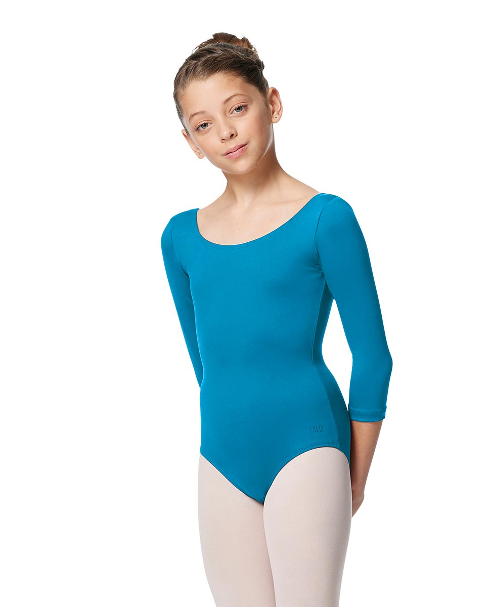 Girls V Back Long Sleeve Tactel Dance Leotard Veronika TUR