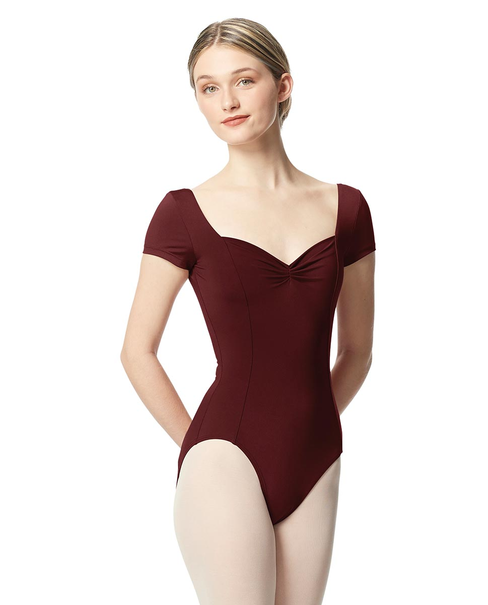 Women Short Sleeve Tactel Dance Leotard Anfisa BUR