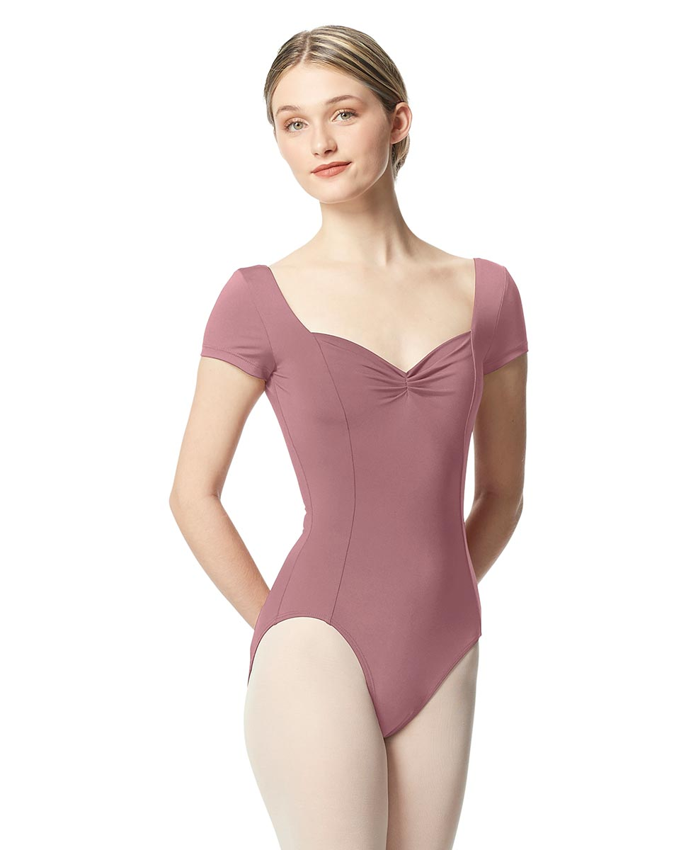 Women Short Sleeve Tactel Dance Leotard Anfisa DROS