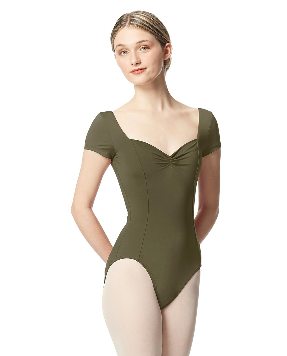 Women Short Sleeve Tactel Dance Leotard Anfisa KHA