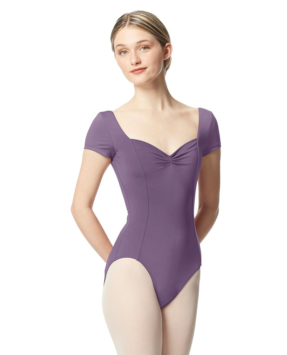 Women Short Sleeve Tactel Dance Leotard Anfisa LAV
