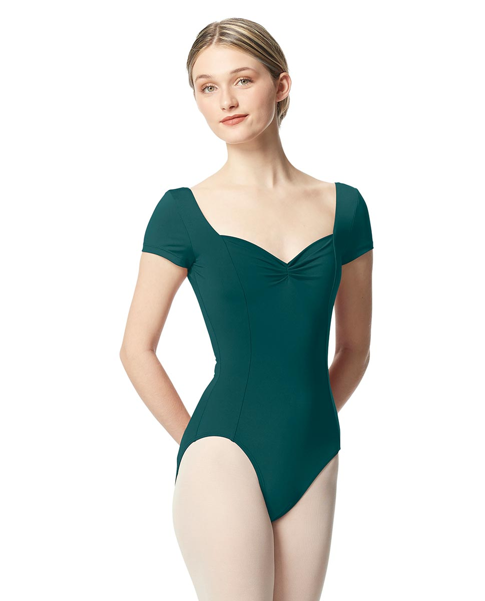 Women Short Sleeve Tactel Dance Leotard Anfisa TEA