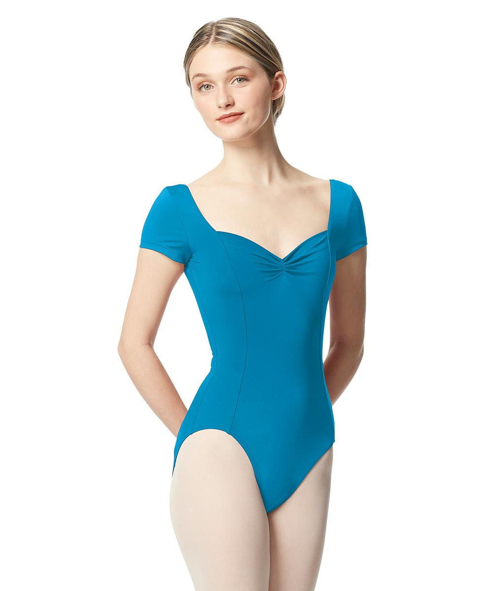 Women Short Sleeve Tactel Dance Leotard Anfisa TUR