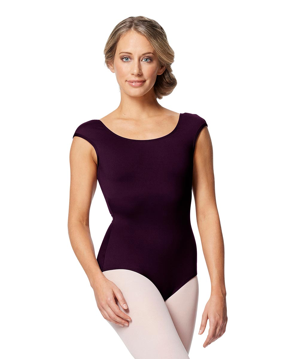 Women cap Sleeve V Back Dance Leotard Indigo AUB