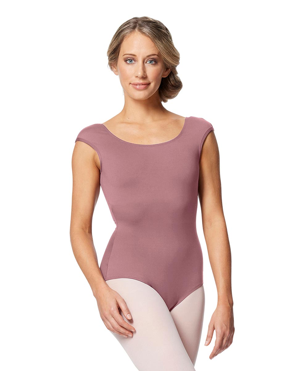 Women cap Sleeve V Back Dance Leotard Indigo DROS