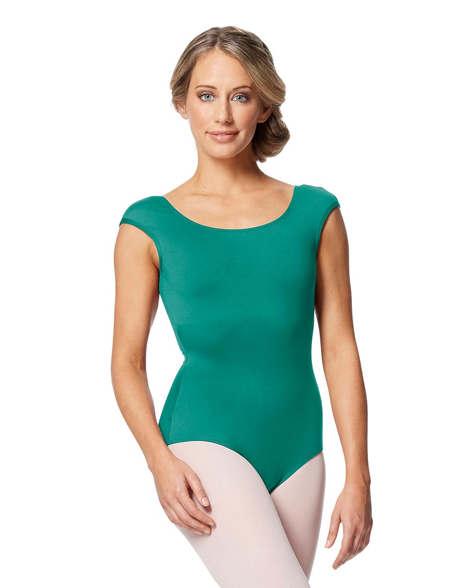 Women cap Sleeve V Back Dance Leotard Indigo JAD