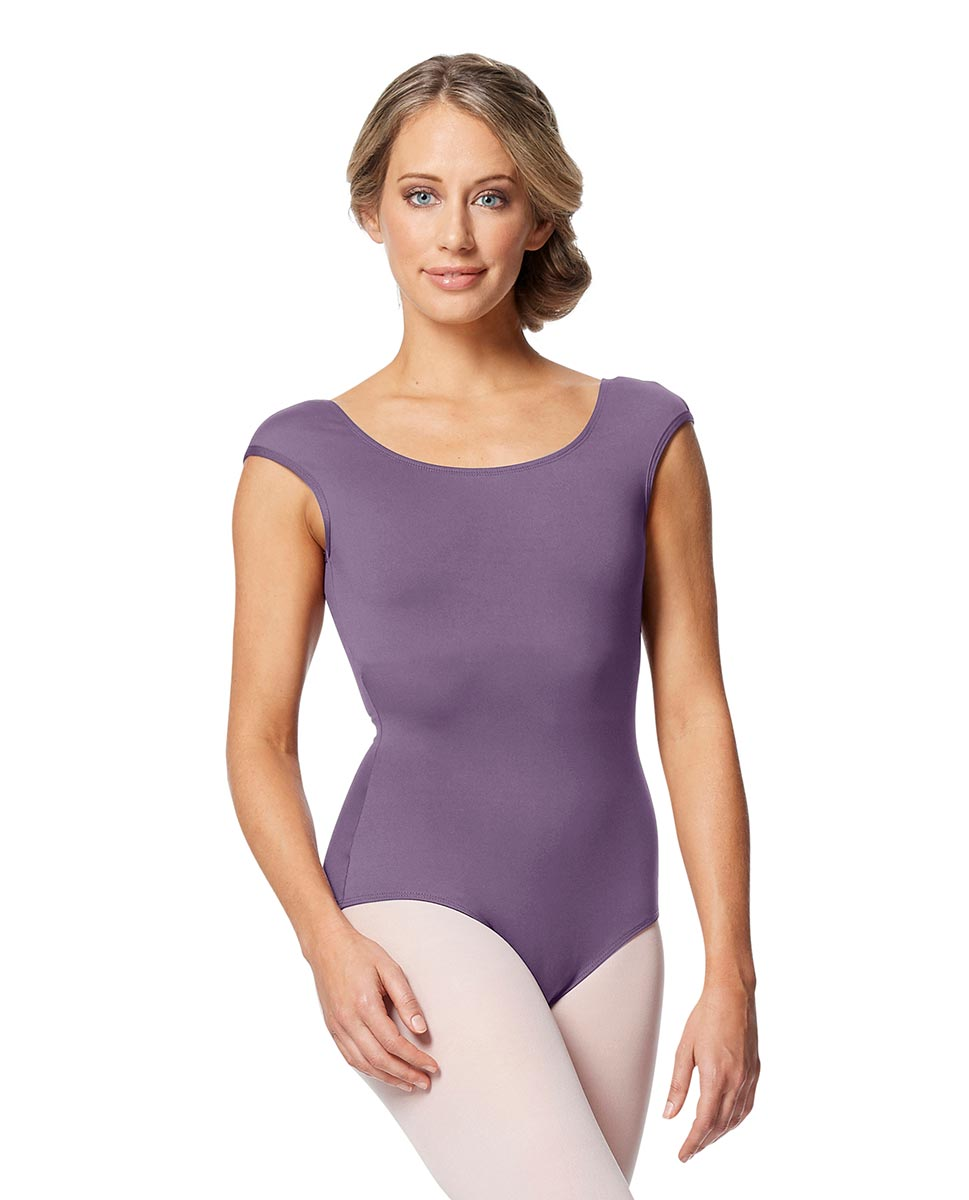 Women cap Sleeve V Back Dance Leotard Indigo LAV