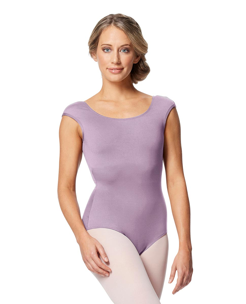 Women cap Sleeve V Back Dance Leotard Indigo LIL