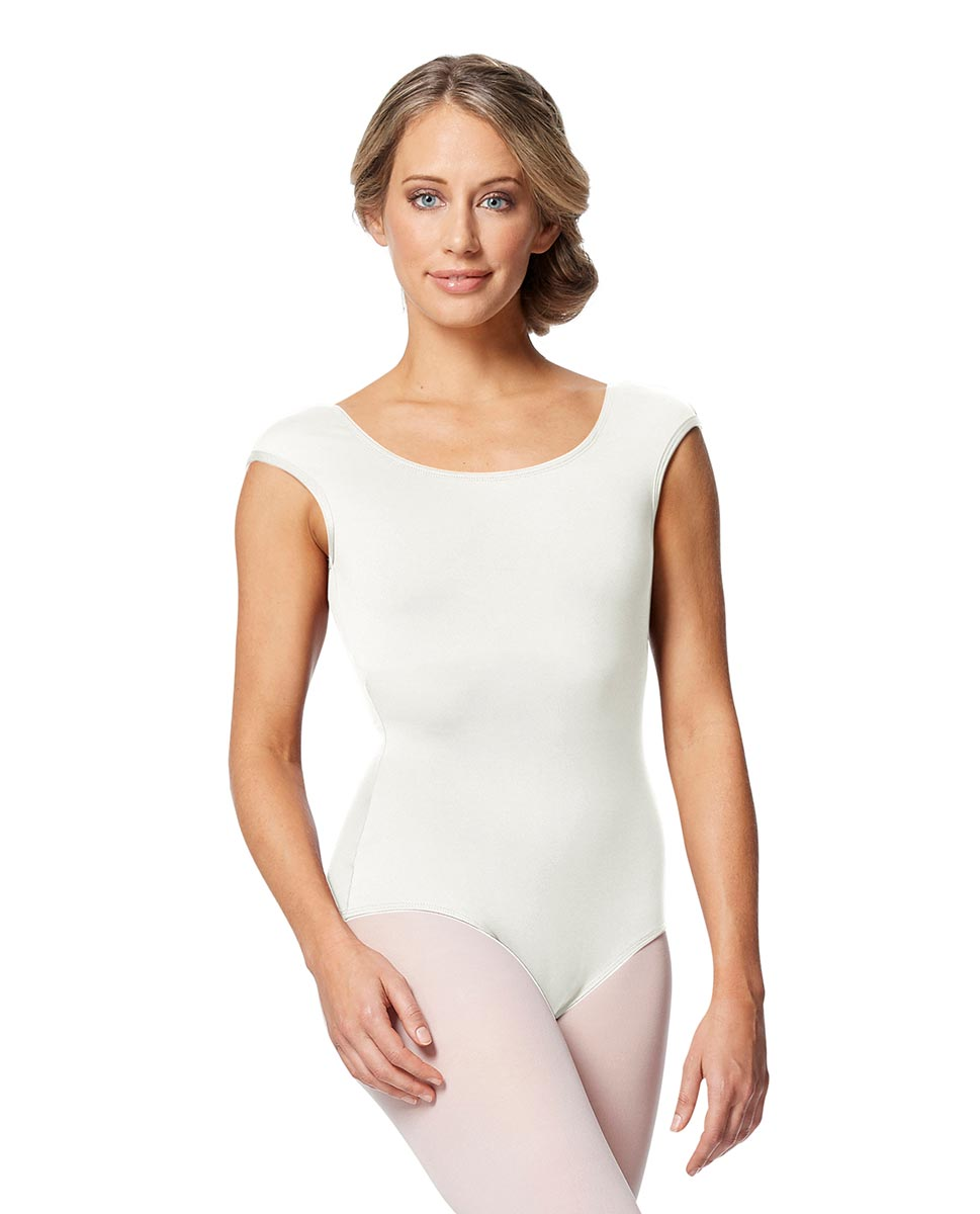 Women cap Sleeve V Back Dance Leotard Indigo WHI