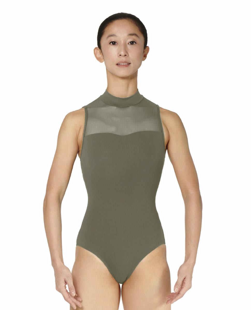 Womens Turtle Neck Tactel Dance Leotard Klara KHA