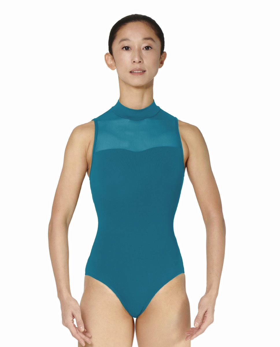 Womens Turtle Neck Tactel Dance Leotard Klara TEA