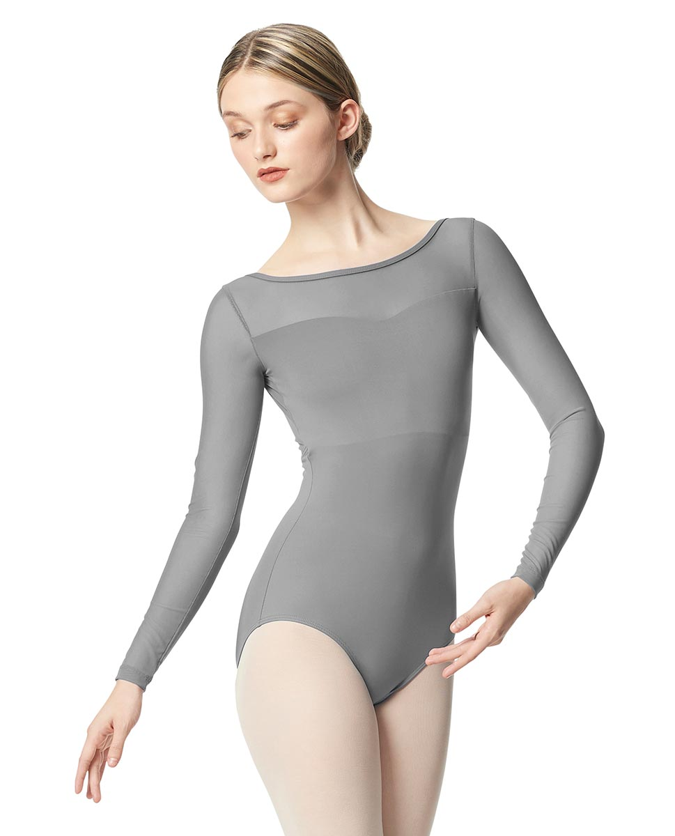 Women Yoke Mesh Long Sleeve Dance Leotard Lada GRE