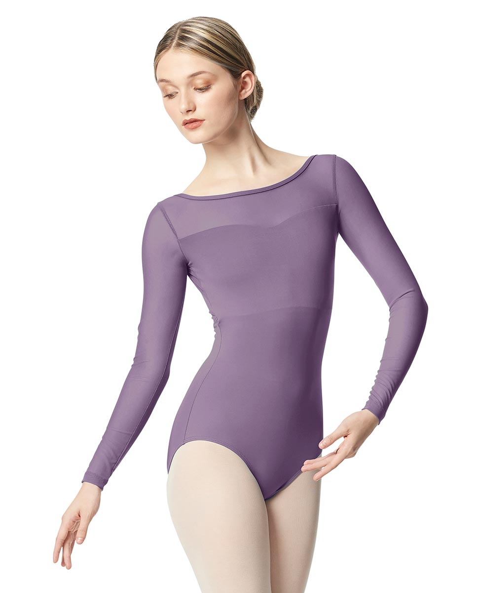 Women Yoke Mesh Long Sleeve Dance Leotard Lada LAV