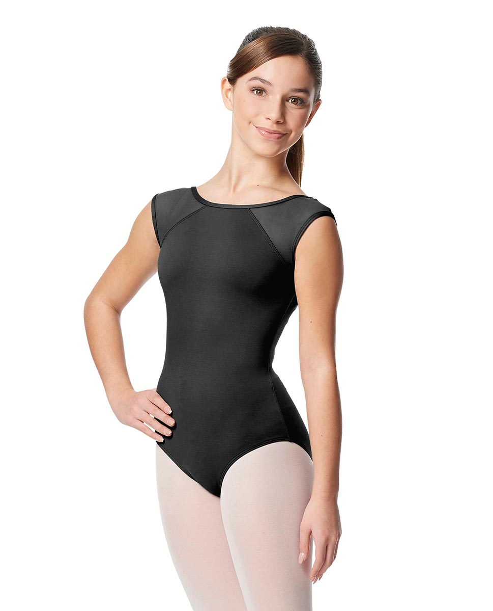 Girls Yoke Mesh Cap Sleeve Dance Leotard Nikita DGRE