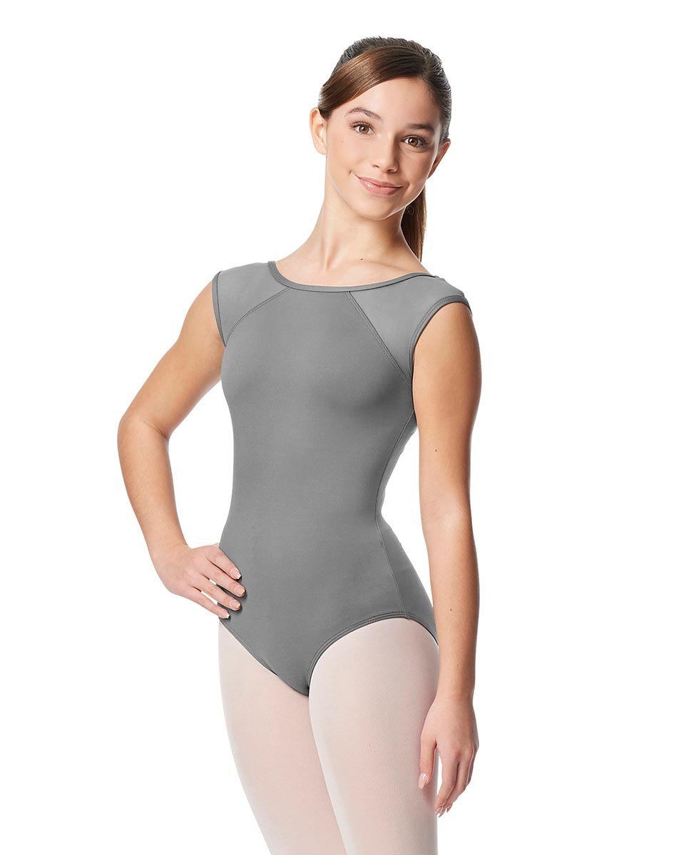 Girls Yoke Mesh Cap Sleeve Dance Leotard Nikita GRE