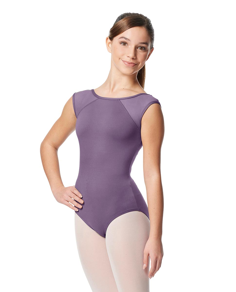 Girls Yoke Mesh Cap Sleeve Dance Leotard Nikita LAV