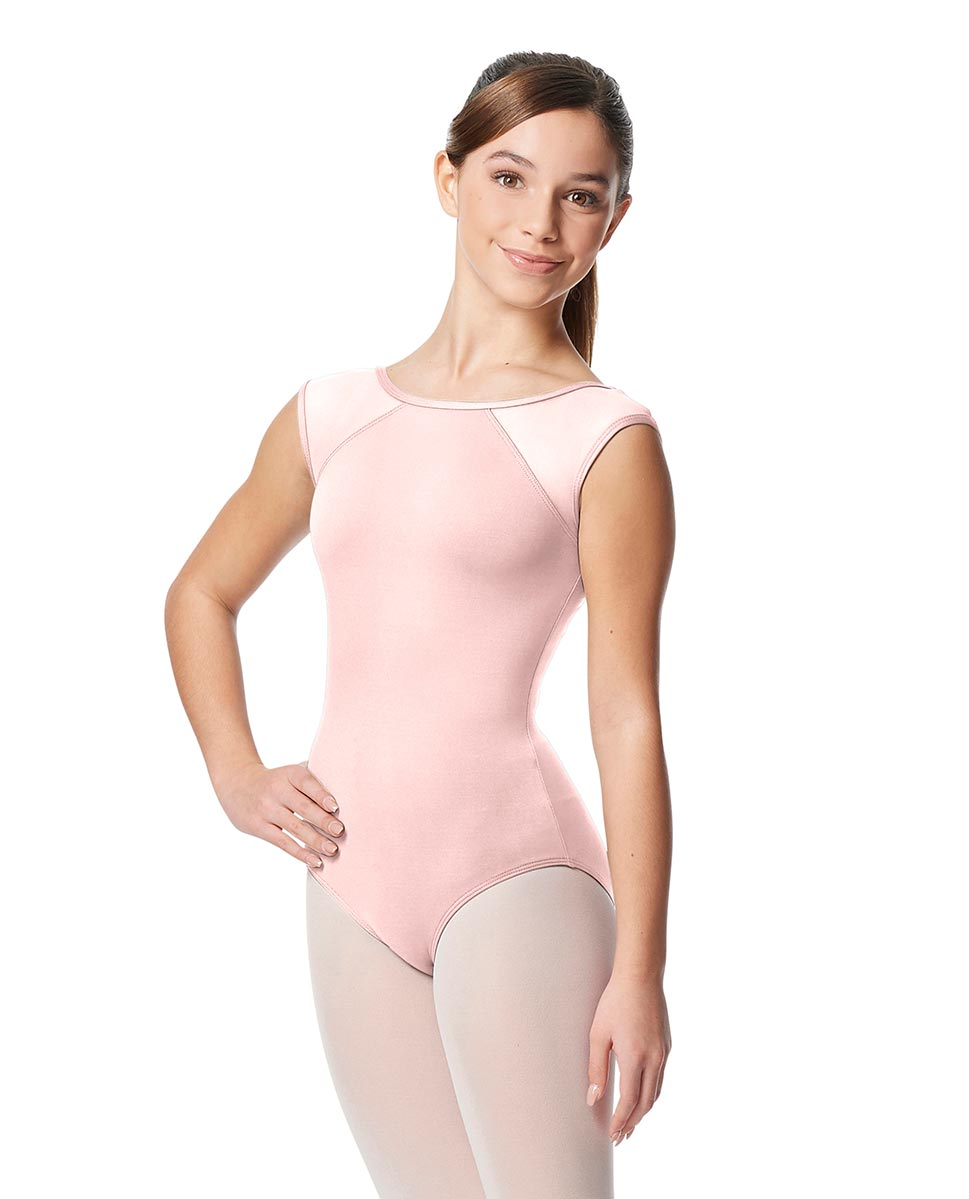 Girls Yoke Mesh Cap Sleeve Dance Leotard Nikita LPNK