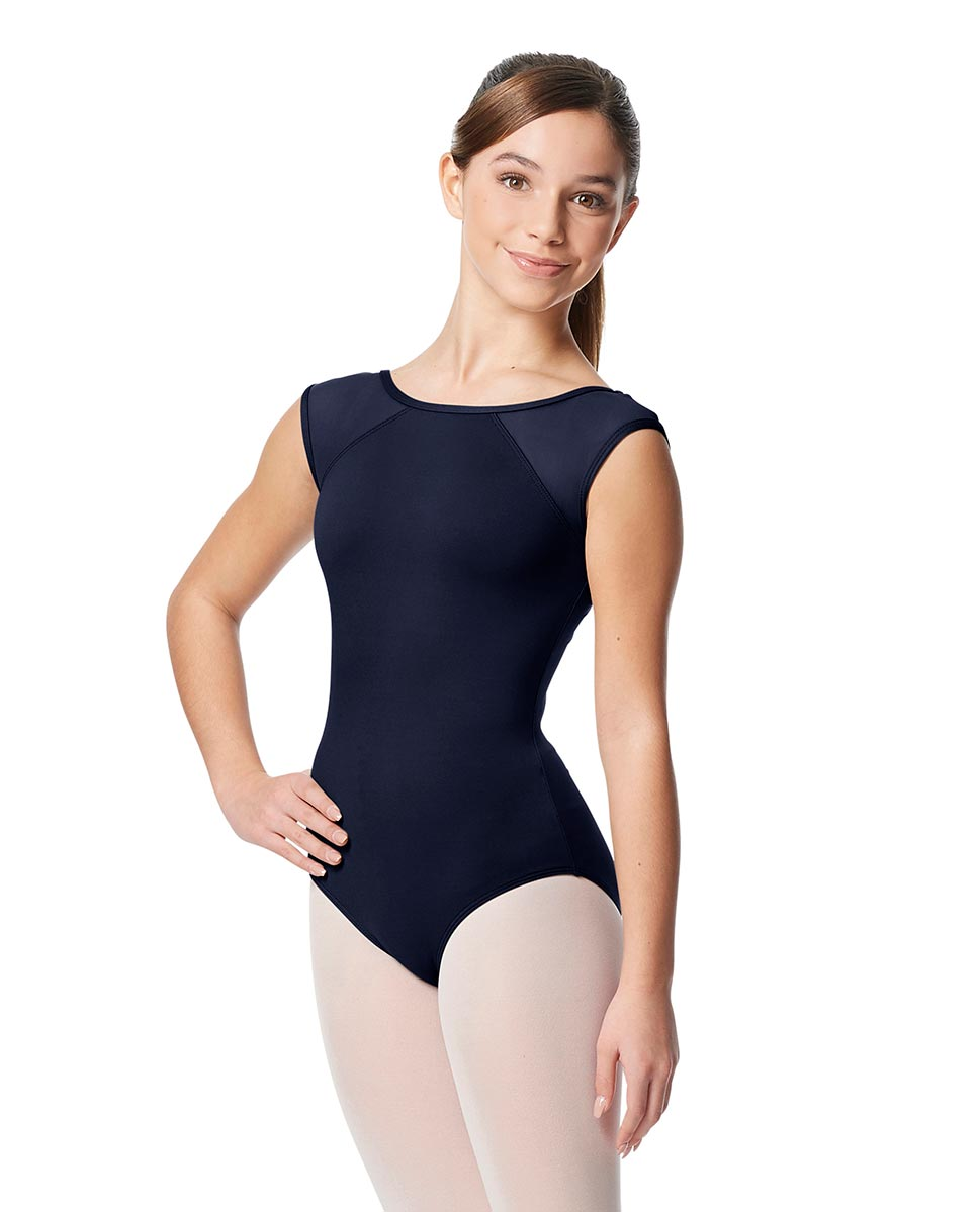 Girls Yoke Mesh Cap Sleeve Dance Leotard Nikita NAY