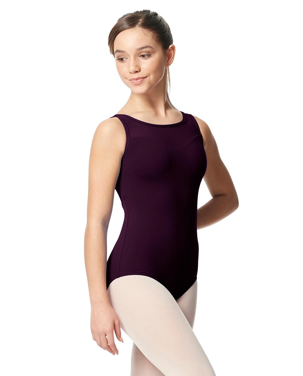 Girls Mesh Yoke Tank Dance Leotard Toma AUB