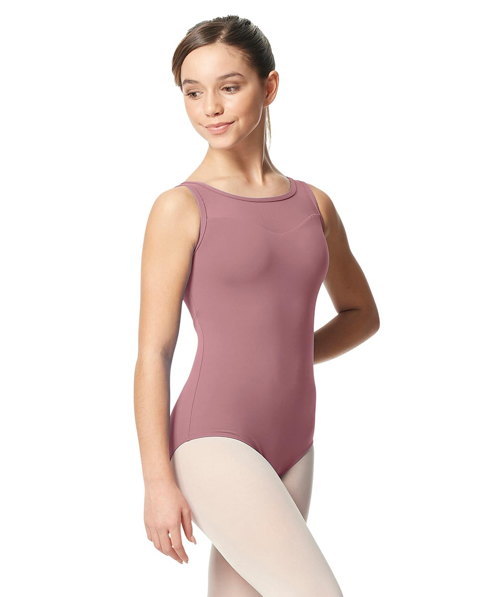 Girls Mesh Yoke Tank Dance Leotard Toma DROS