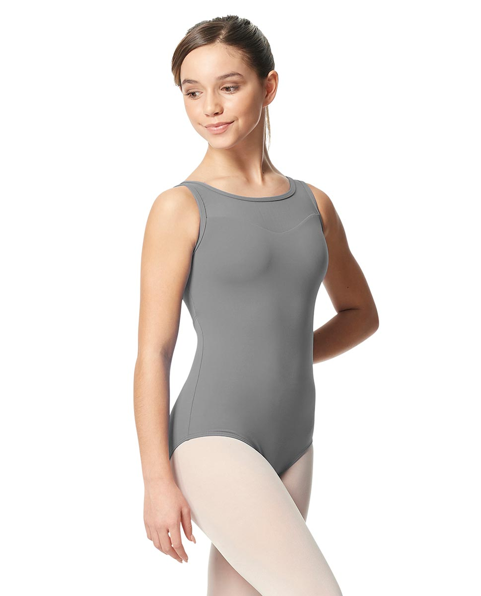 Girls Mesh Yoke Tank Dance Leotard Toma GRE
