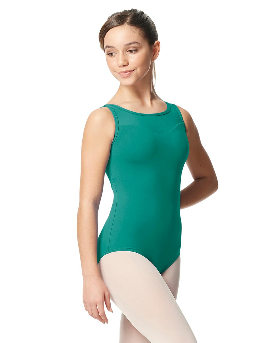 Girls Mesh Yoke Tank Dance Leotard Toma JAD