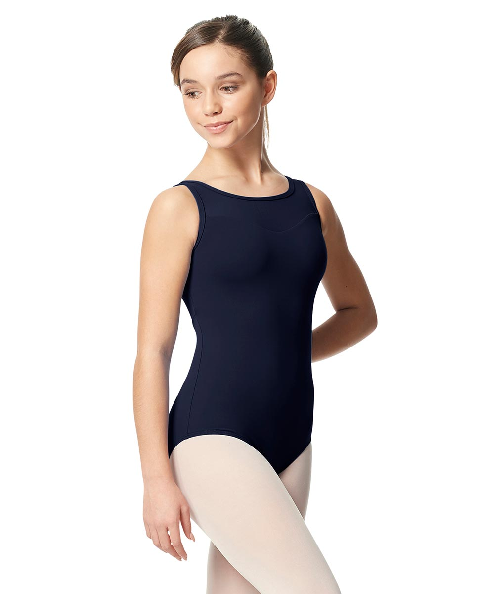 Girls Mesh Yoke Tank Dance Leotard Toma NAY