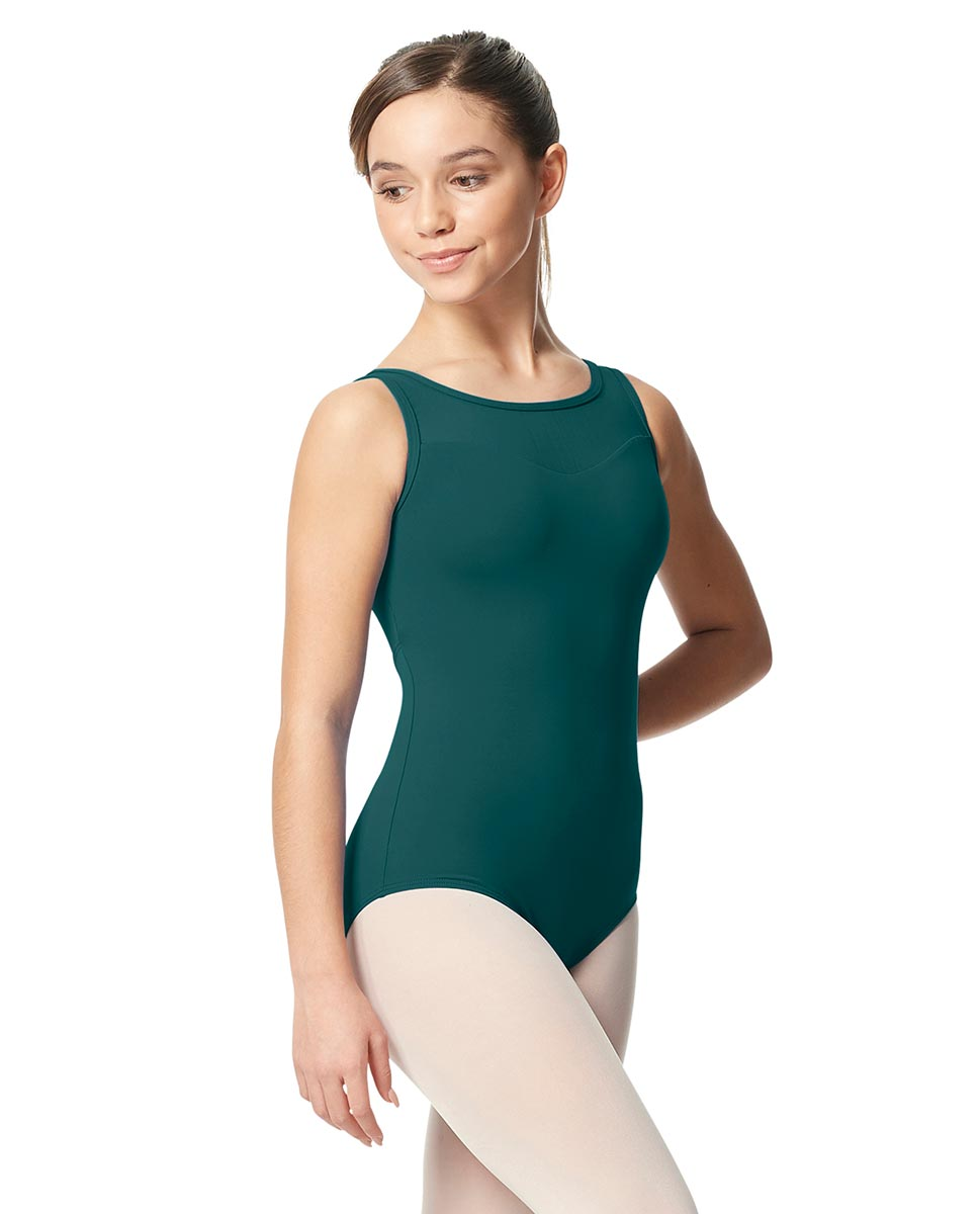 Girls Mesh Yoke Tank Dance Leotard Toma TEA
