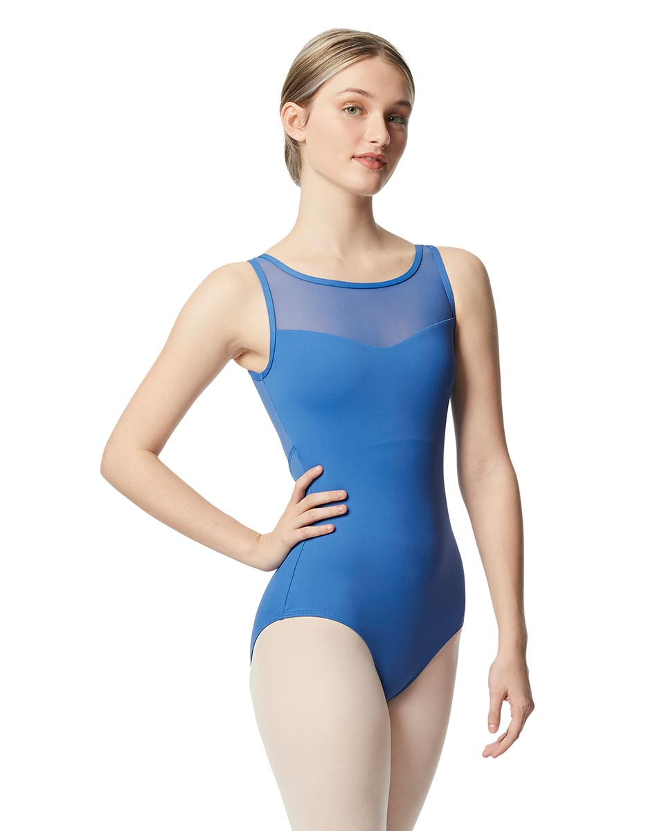 Mesh Tank Women Leotard Toma BLUE