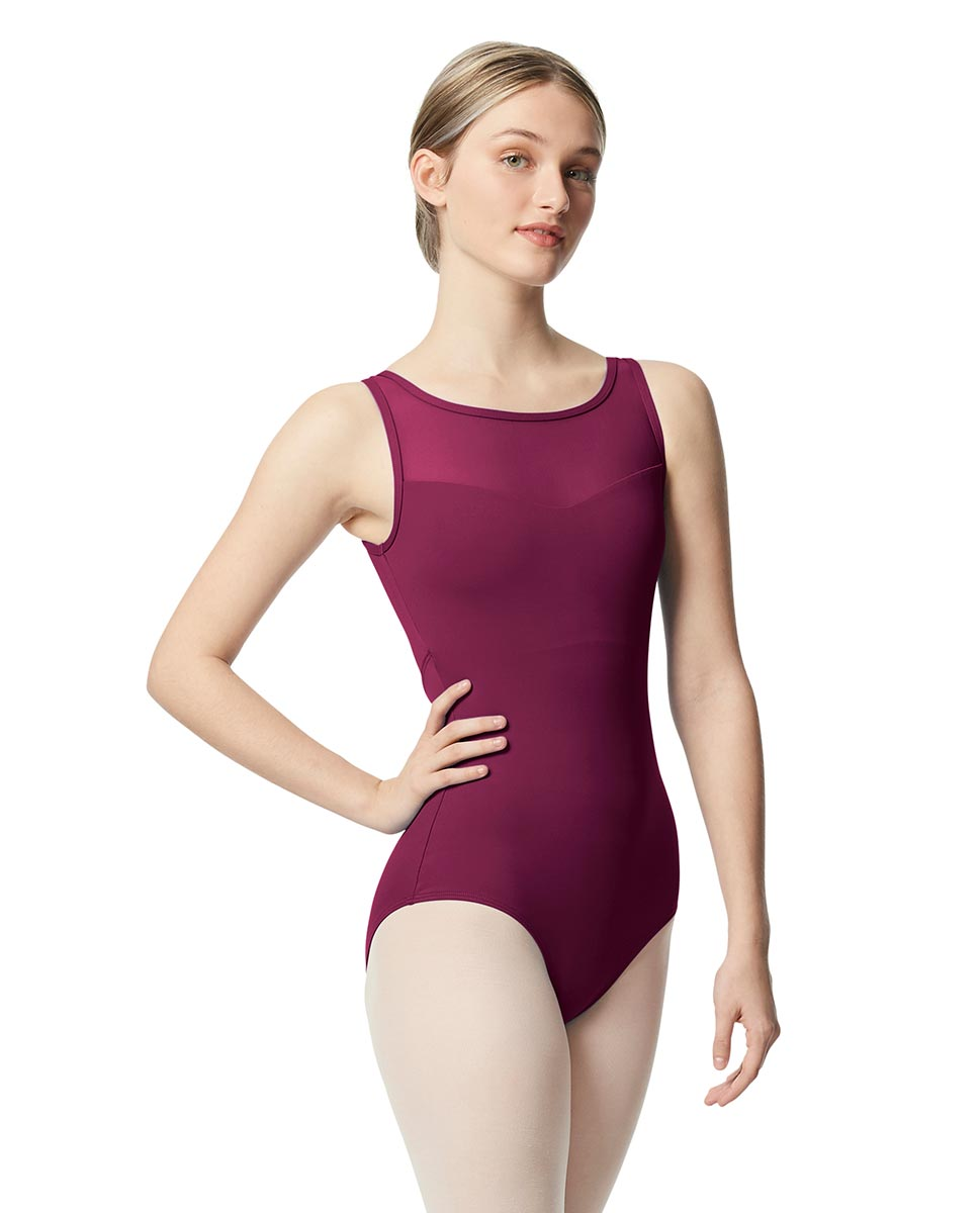 Mesh Tank Women Leotard Toma WINE