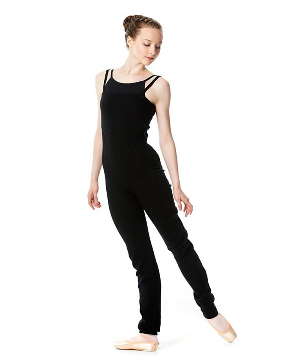 LULLI Knit Warm ups Overalls With Ankle Cuffs BLK