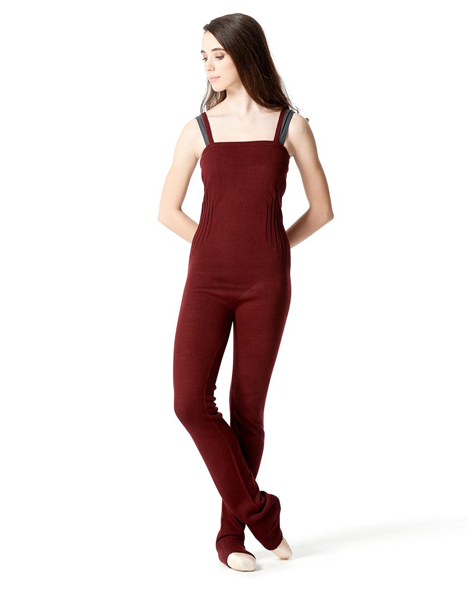 LULLI Knit Warm ups Overalls With Ankle Cuffs BUR
