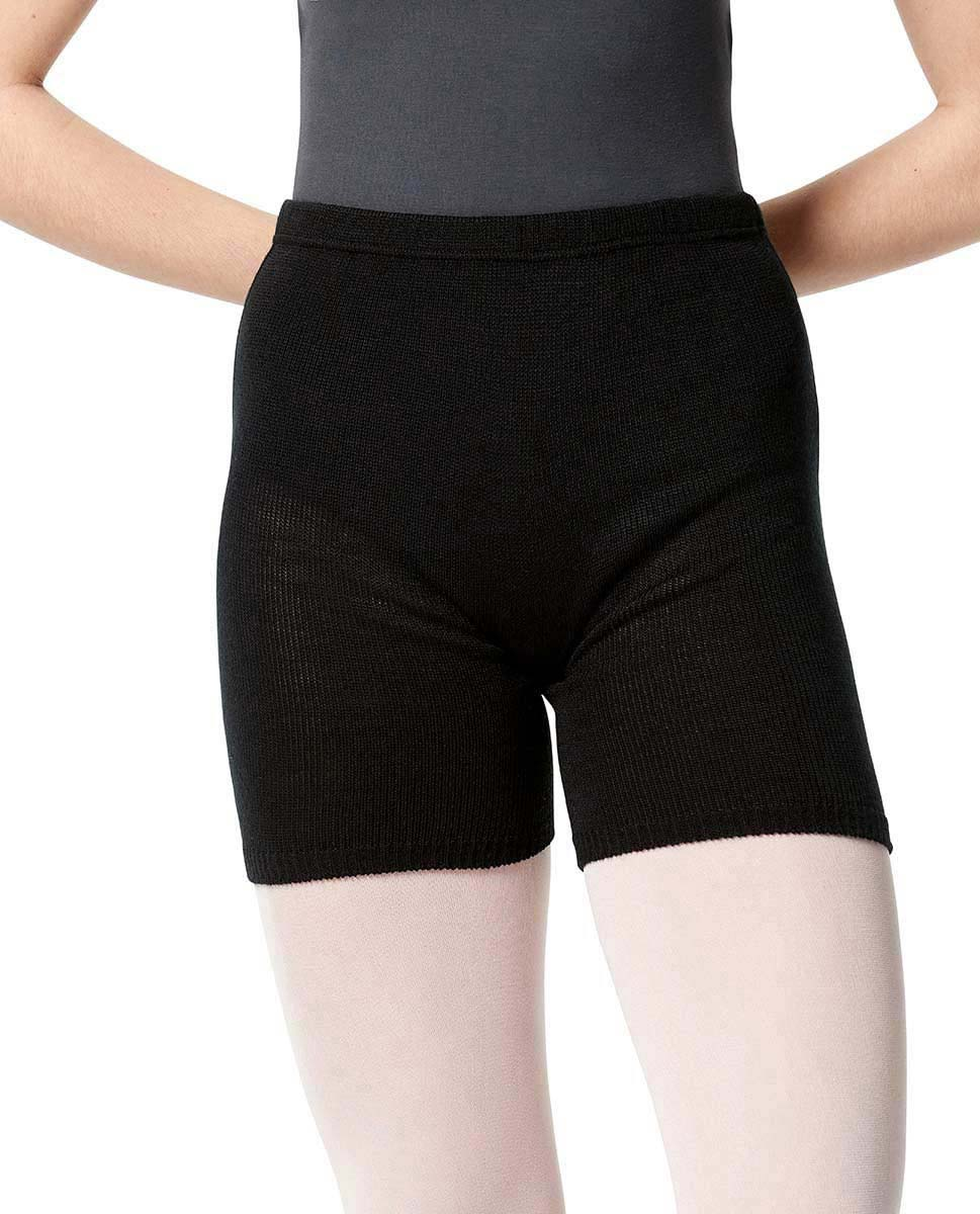 Knitted Warm Up Shorts   BLK