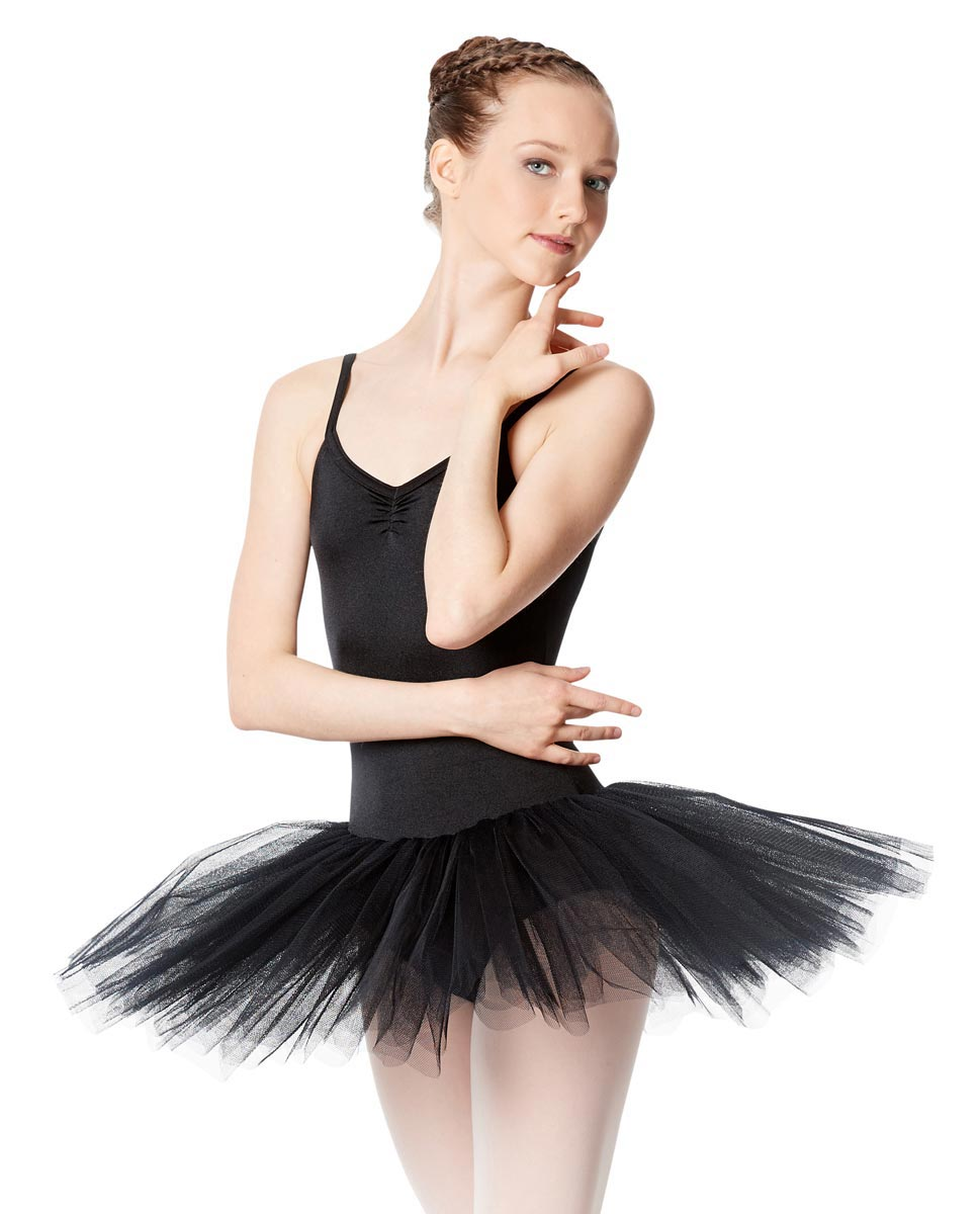 Ballet Camisole Tutu 4 Layer Tulle Dress Everly BLK