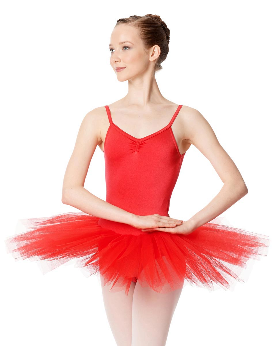 Ballet Camisole Tutu 4 Layer Tulle Dress Everly RED