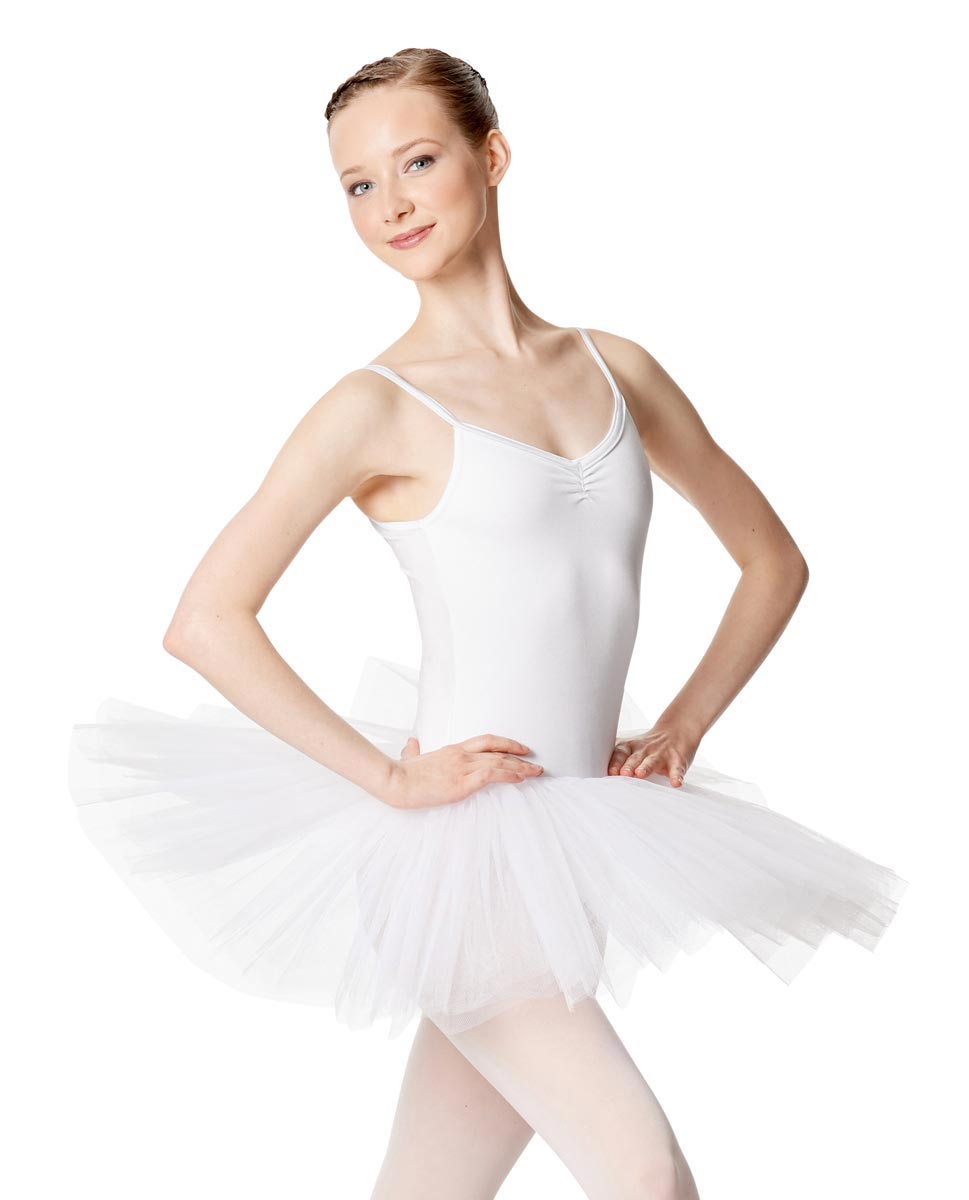 Ballet Camisole Tutu 4 Layer Tulle Dress Everly WHI