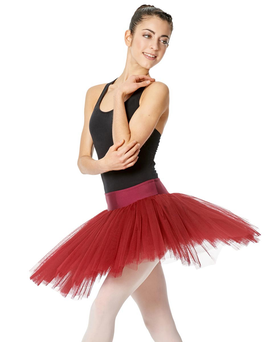 Women Rich 6 layered tulle Tutu Skirt Adelaide RED