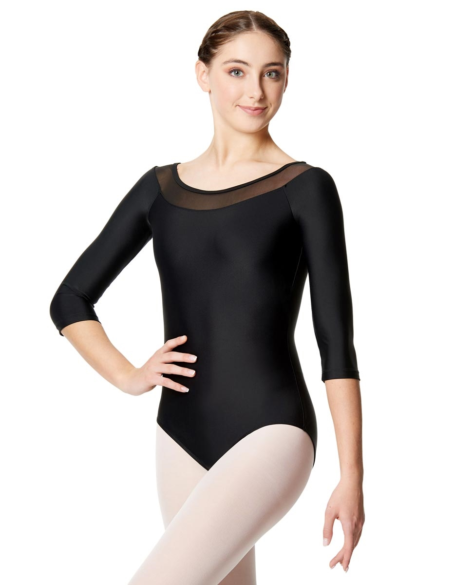 Girls Mesh Long Sleeve Leotard Hazel