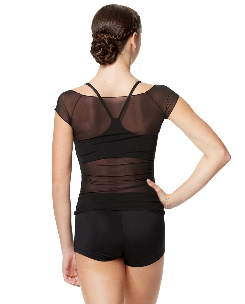 Women Mesh Cup Sleeve Dance Top Brianna
