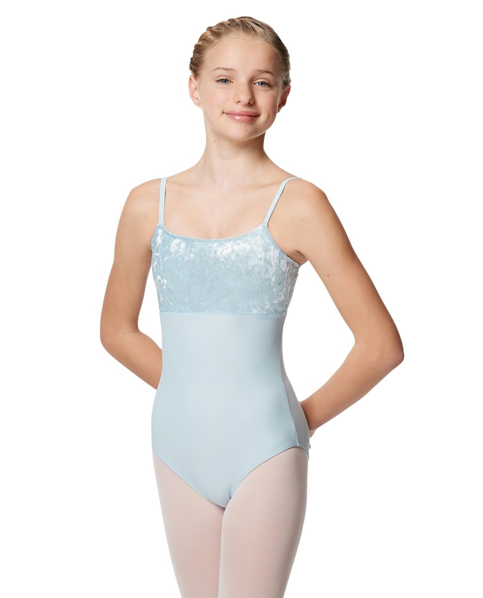 Girls Velvet Camisole Dance Leotard Kayla