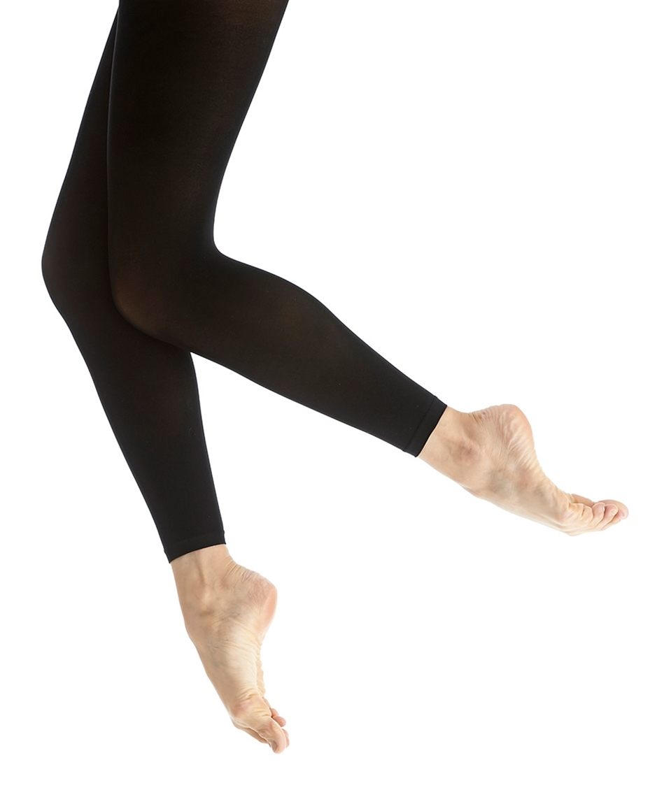 Adult's Footless Microfiber Dance Tights