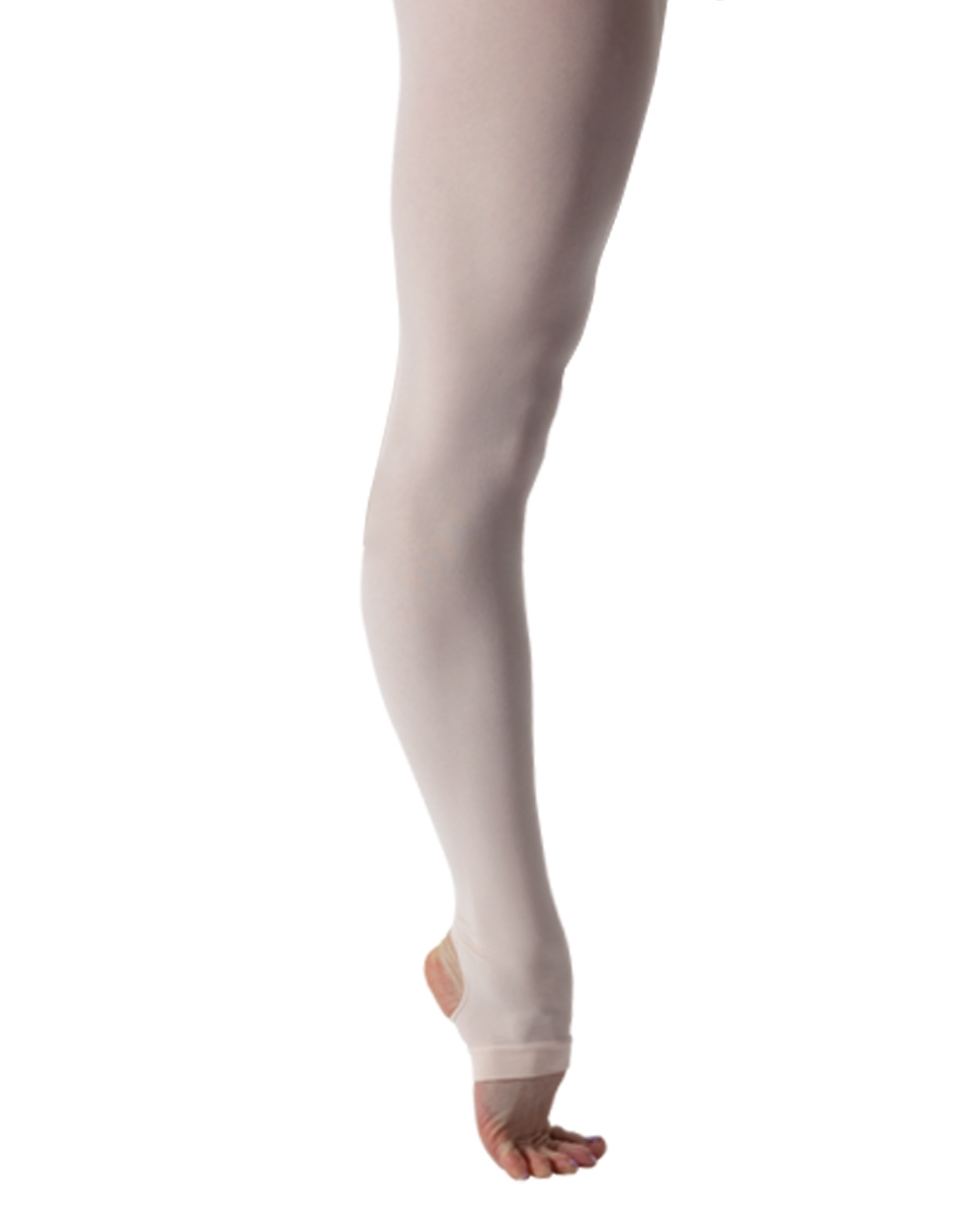 Girls Microfiber Stirrups Ballet Tights