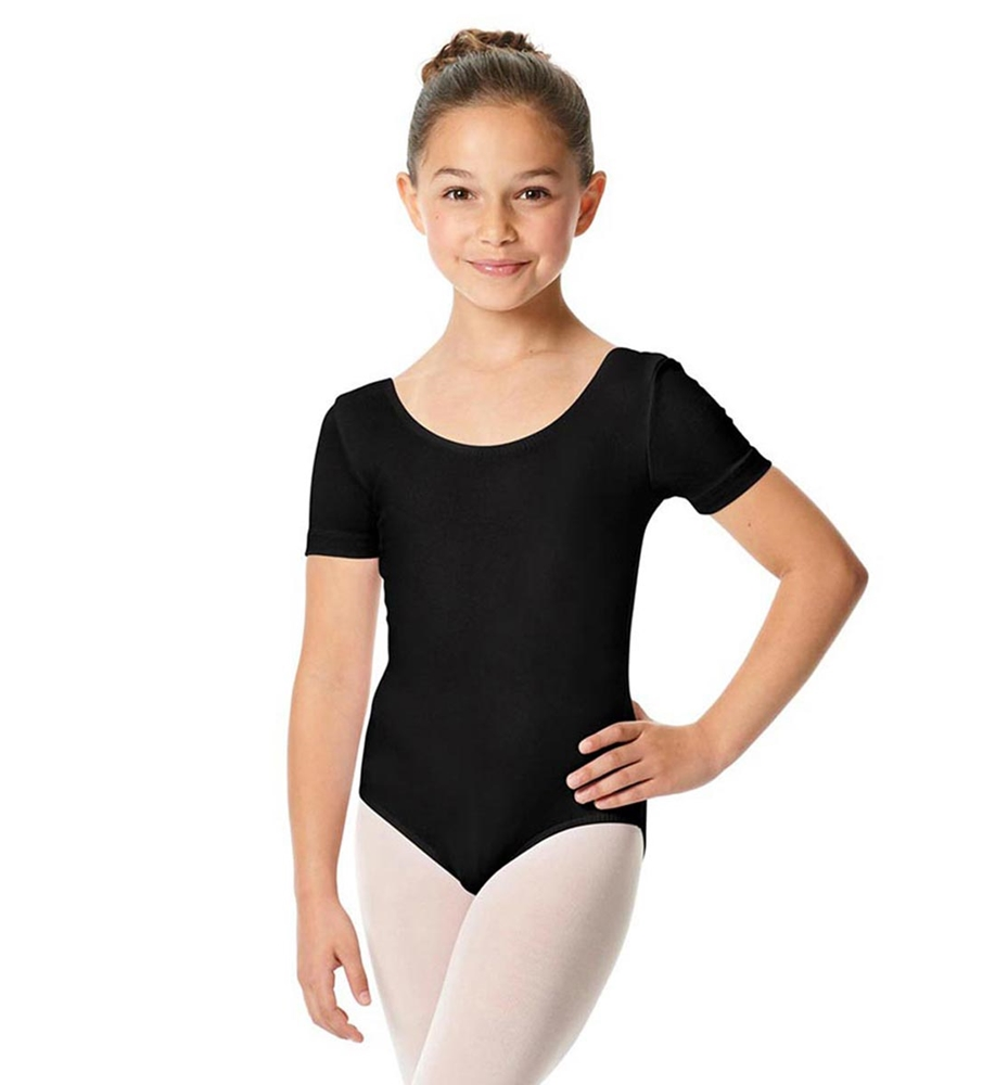 Girls Short Sleeve Cotton Ballet Leotard Lauretta