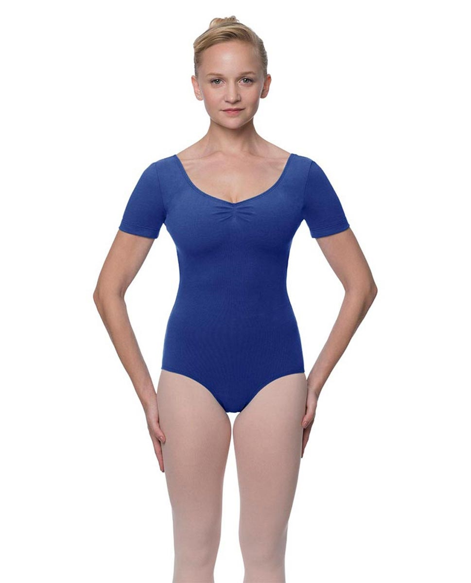 Short Sleeve Cotton Dance Leotard Mckenzie
