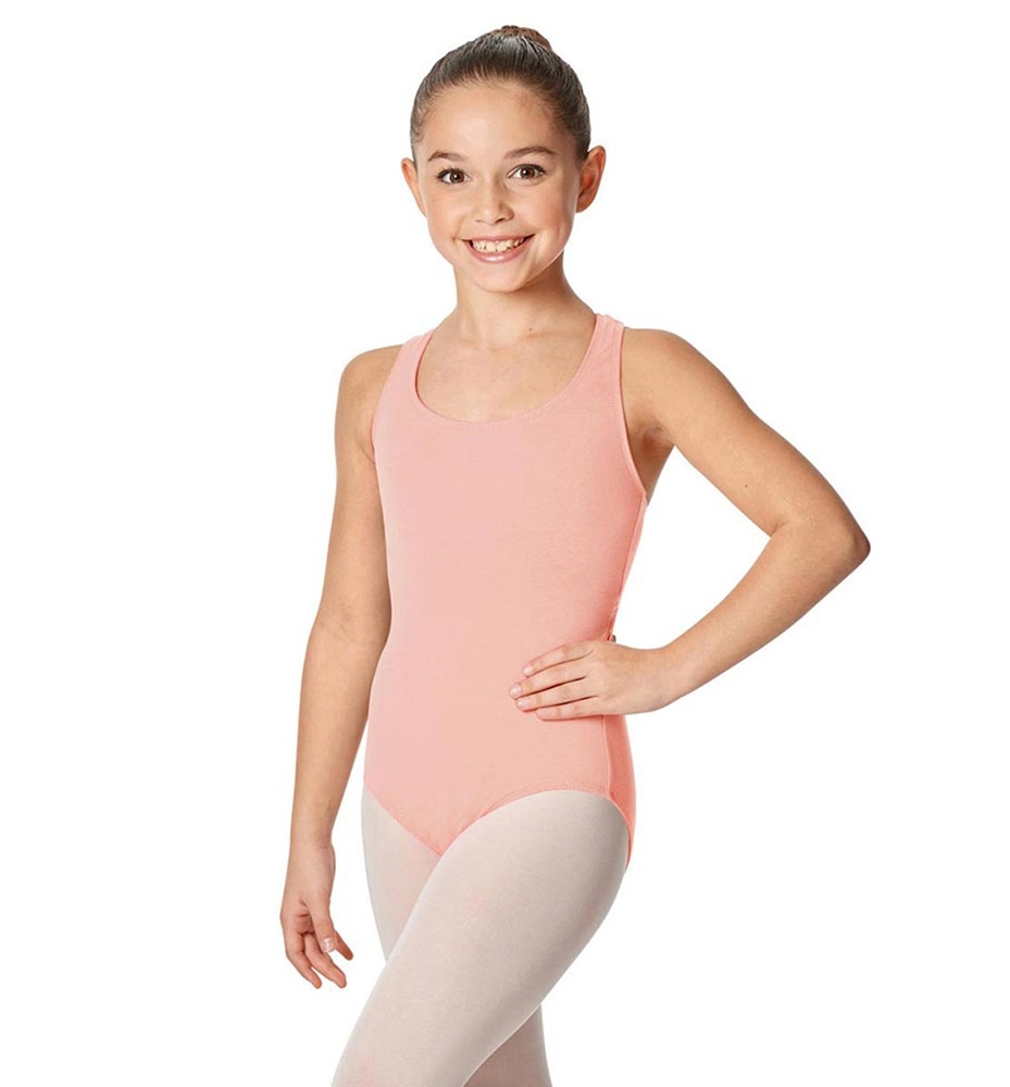Girls Brushed Cotton Tank Dance Leotard Ember