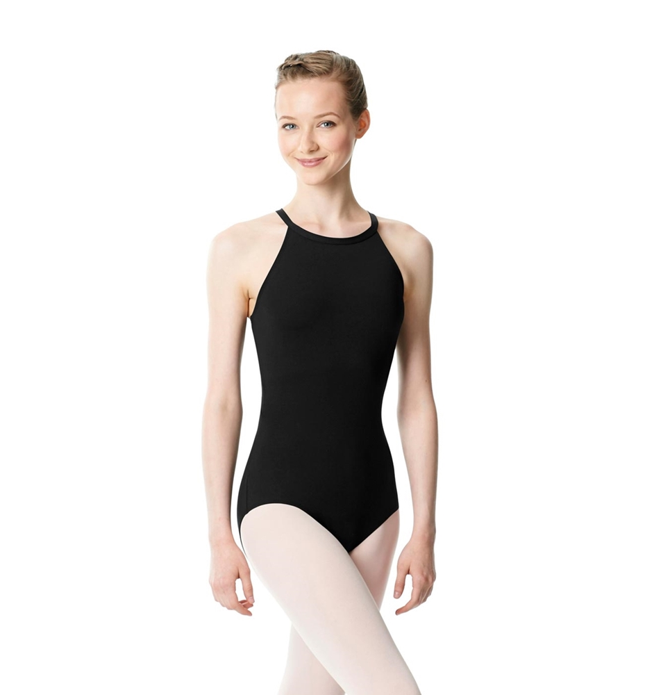 Halter Neck Microfiber Performance Leotard Ivana